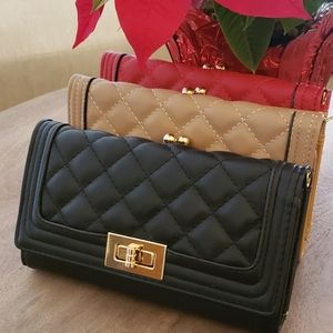 Quilted Flap Wallet/Wristlet/Crossbody